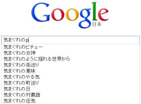 Google 候補