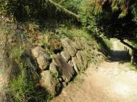 ha.原城 本丸池尻口の石垣