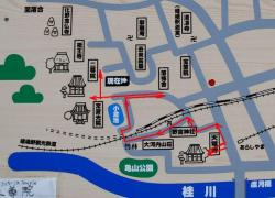 嵯峨野散策 地図