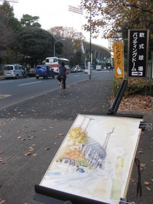 神宮外苑・競技場スケッチ