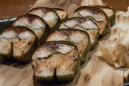 120826焼き鯖寿司。
