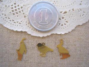 銅メタル:ネコ、トリ、うさぎ