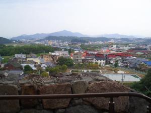 城から福知山市街地
