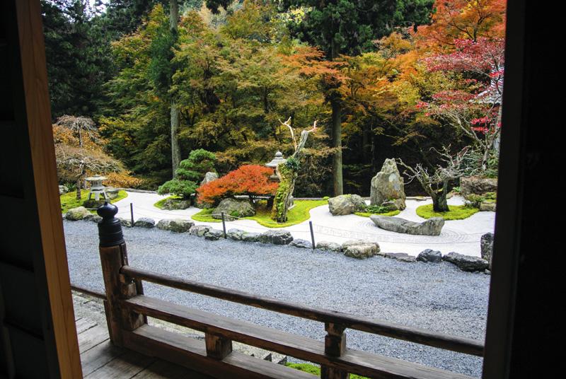 阿弥陀寺:枯山水と紅葉