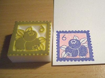 ブルーベリーの切手