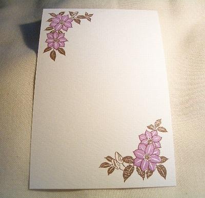 クレマチスのポストカード