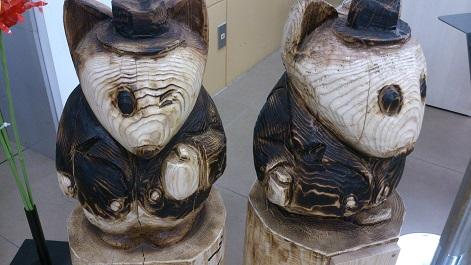木彫りのごんきつね