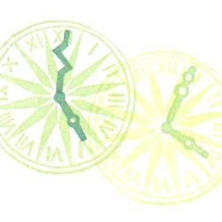 時間の国・時計の針改色見本