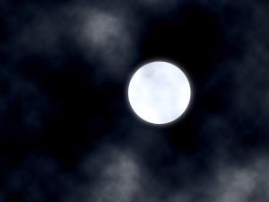 白い月ぼかし