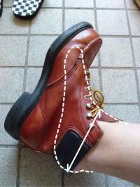 ブーツの紐の結び方
