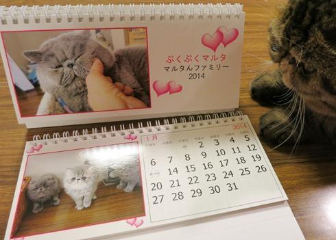 1)カレンダー作りました