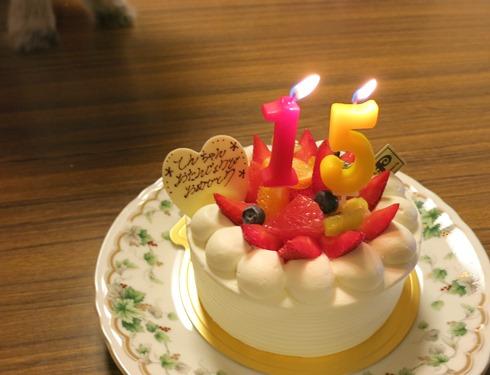 5)お誕生日ケーキ