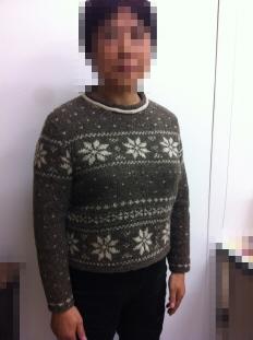 2011 Tさん 編み込みセーター