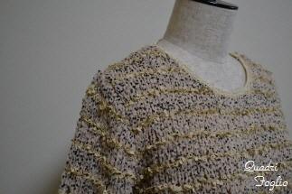 母セーター 片袖ついたところ