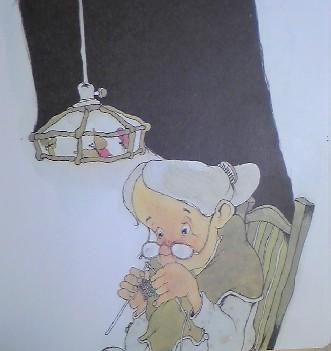 おばあさんのひこうき挿絵