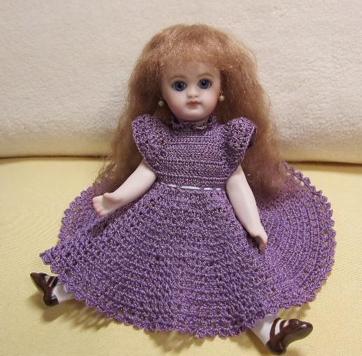 菫ドレススカートできあがり