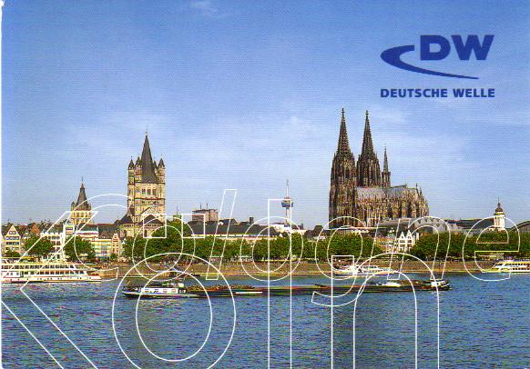 日本語放送受信 ドイチェ・ヴェレ(ドイツ)のQSLカード(受信確認証)