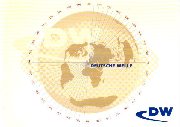 ドイチェ・ヴェレ(ドイツ)QSLカード(受信確認証)