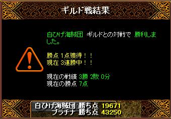 7月1日 白ひげ 結果