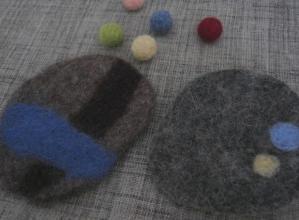 羊毛コースター