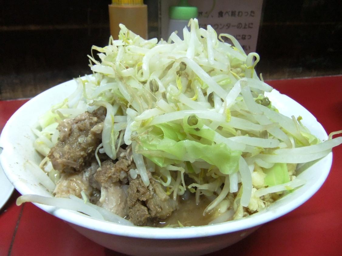 蓮爾 登戸店:小ラーメン(ヤサイマシマシニンニク) 12.04.10