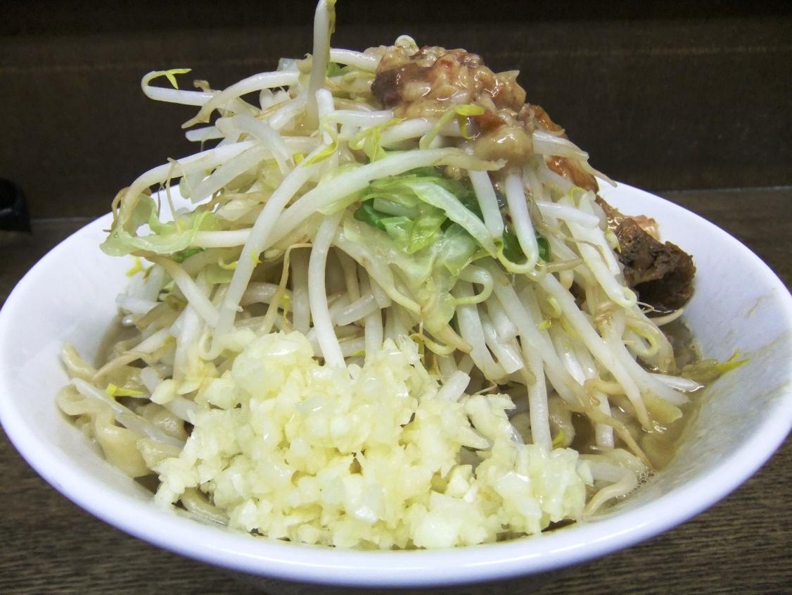 蓮爾 さんこま店:小ラーメン(ヤサイニンニクアブラ) 12.05.18