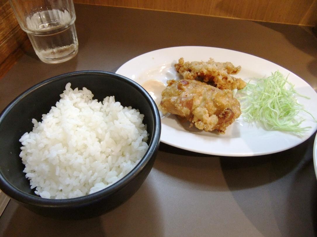 たんめん専門店 百菜:鶏唐揚マヨライスセット 12.07.03