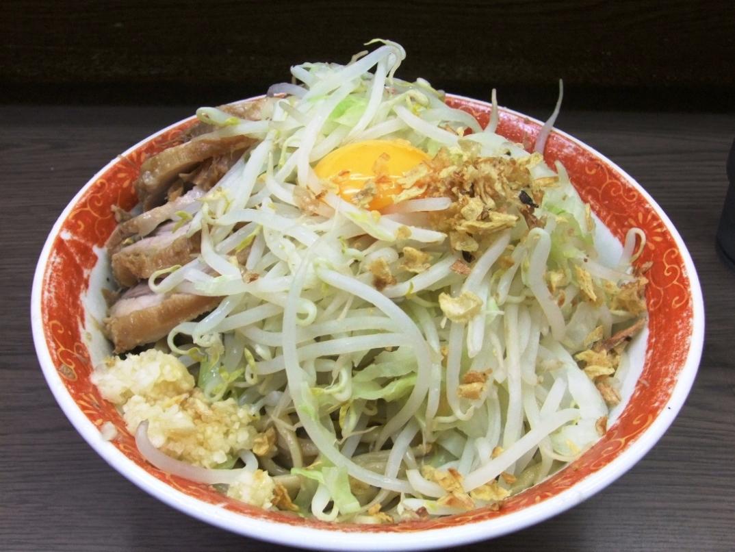 ラーメン二郎 横浜関内店:小ぶた汁なし(ヤサイニンニク) 12.07.14