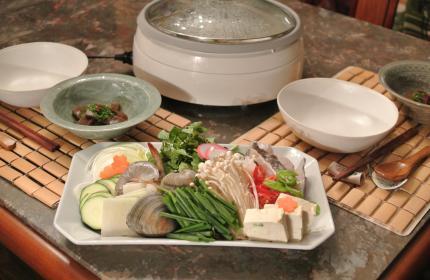 韓国の寄せ鍋で。。。