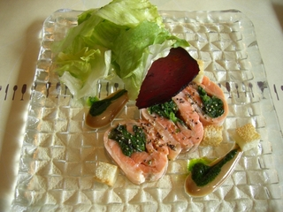 サーモンロールのサラダ