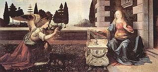 Annunciazione di Lenardo Da Vinci