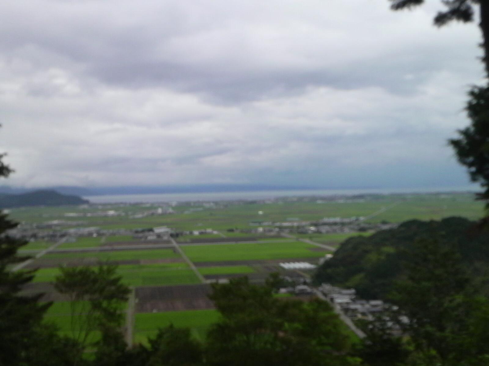 琵琶湖(安土城から)