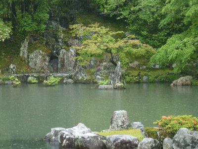 天龍寺のきれいな庭 、いいなぁ~