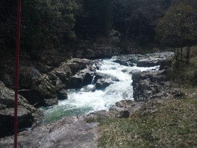 天竜の渓谷-春-