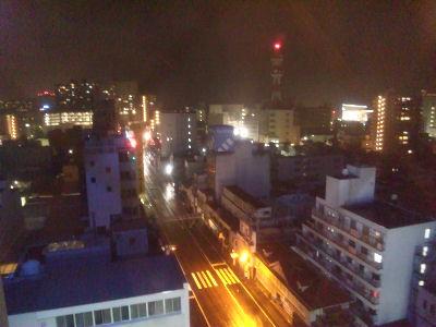大津の東横インより琵琶湖を眺める