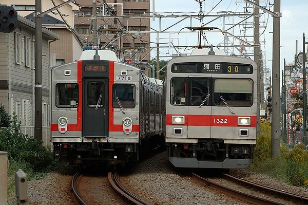 @矢口渡駅付近