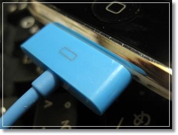 100均の青いiPhoneとiPodのUSB充電&転送ケーブル