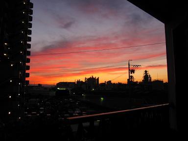 夕焼け綺麗でした。