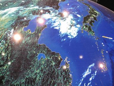 地球は青くて丸いのだ。