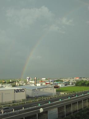 虹見れた。