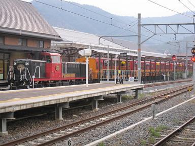 嵯峨野トロッコ列車♪