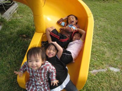 4兄弟滑り台