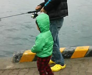 ぼくも釣りたいよぉー