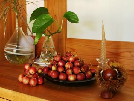 リンゴと栗