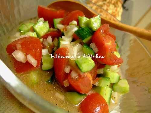 DSCF6・28トマトとキュウリのマリネサラダ