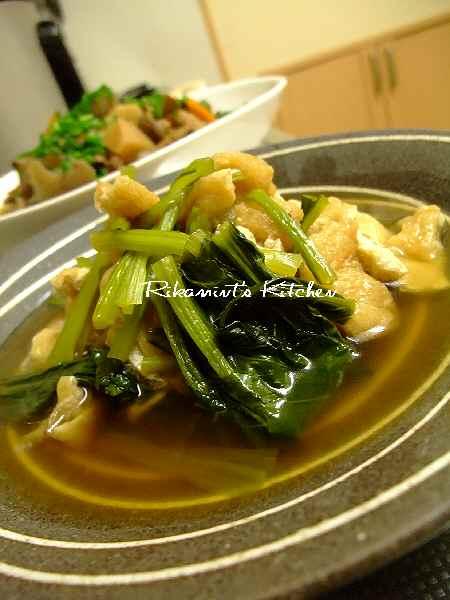 DSCF8・25小松菜と揚げの煮びたし (1)