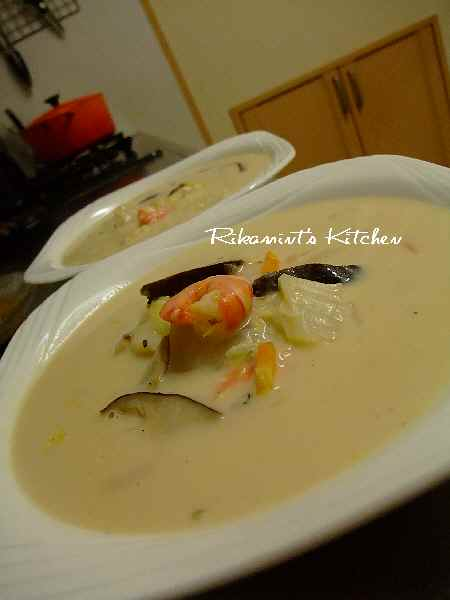 DSCF8・30シーフードと白菜のクリームスープ (1)