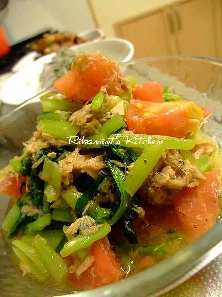 DSCF9・18小松菜とトマトのサラダ