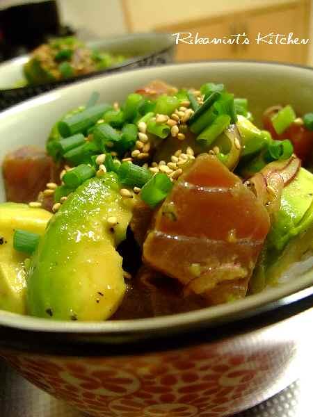 DSCF9・21マグロ&アボカド丼