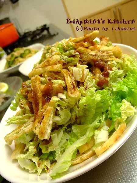 DSCF11・17白菜と油揚げのサラダ
